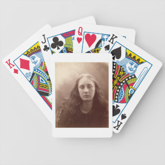 Christabel, portrait of May Prinsep, c.1867 (sepia Bicycle Playing Cards