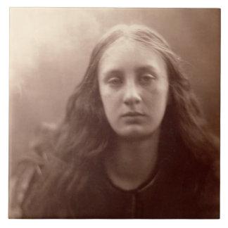 Christabel, portrait of May Prinsep, c.1867 (sepia Ceramic Tile