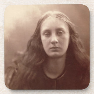 Christabel, portrait of May Prinsep, c.1867 (sepia Coaster