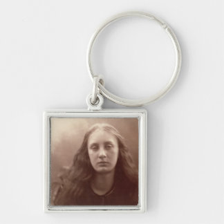 Christabel, portrait of May Prinsep, c.1867 (sepia Keychain
