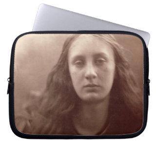 Christabel, portrait of May Prinsep, c.1867 (sepia Laptop Sleeve