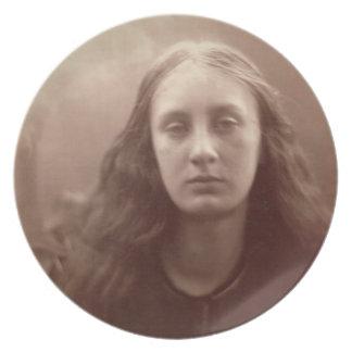 Christabel, portrait of May Prinsep, c.1867 (sepia Melamine Plate