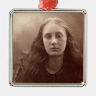 Christabel, portrait of May Prinsep, c.1867 (sepia Metal Ornament
