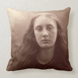 Christabel, portrait of May Prinsep, c.1867 (sepia Pillow