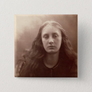 Christabel, portrait of May Prinsep, c.1867 (sepia Pinback Button