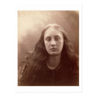 Christabel, portrait of May Prinsep, c.1867 (sepia Postcard