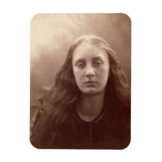 Christabel, portrait of May Prinsep, c.1867 (sepia Rectangular Photo Magnet