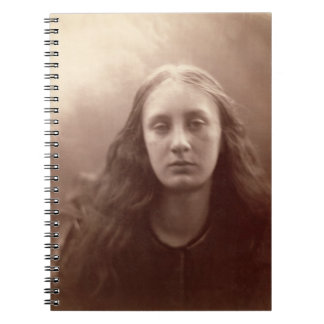 Christabel, portrait of May Prinsep, c.1867 (sepia Spiral Notebook