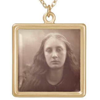Christabel, portrait of May Prinsep, c.1867 (sepia Square Pendant Necklace