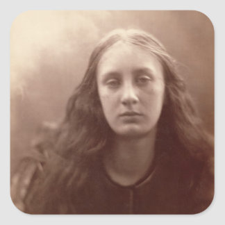 Christabel, portrait of May Prinsep, c.1867 (sepia Square Sticker