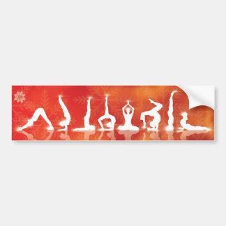 Christamas Yoga Bumper Sticker