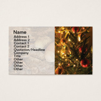 Christams decoration business card