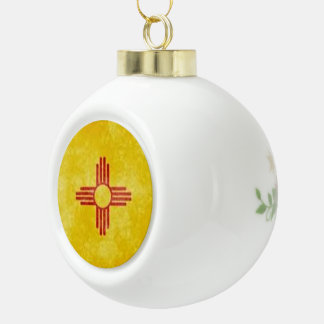 Christams in New Mexico Ceramic Ball Christmas Ornament