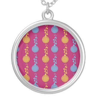 Christas abstracto colorido, árboles del día de fi joyerias personalizadas