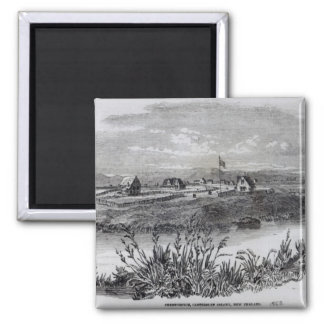 Christchurch, Canterbury Colony, New Zealand 2 Inch Square Magnet