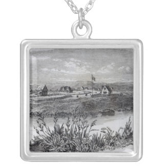 Christchurch, Canterbury Colony, New Zealand Silver Plated Necklace