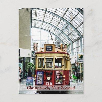 Christchurch City Tour Tram no.178 NZ Postcard