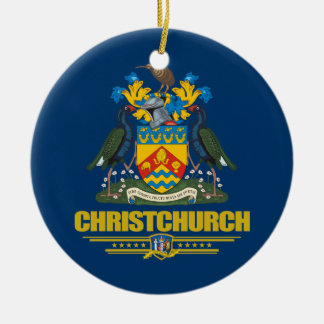 Christchurch Double-Sided Ceramic Round Christmas Ornament
