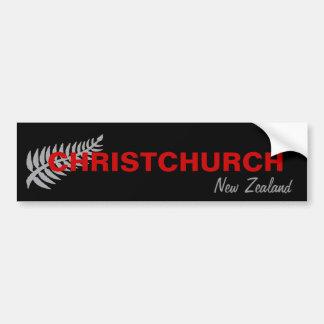 CHRISTCHURCH NEW ZEALAND BUMPER STICKERS