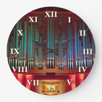 Christchurch organ clock with roman numerals