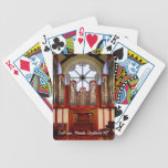 Christchurch pipe organ before destruction bicycle card deck