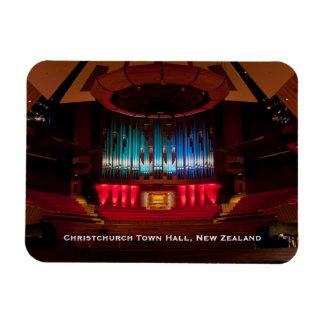 Christchurch Town Hall auditorium and organ Rectangular Photo Magnet