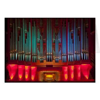 Christchurch Town Hall organ Card