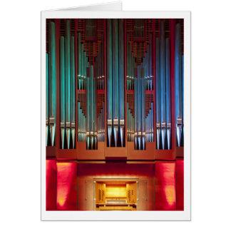 Christchurch Town Hall organ card (vertical)