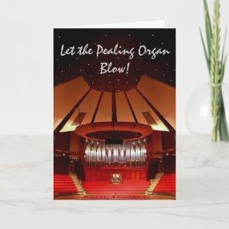 Christchurch Town Hall organ Christmas card