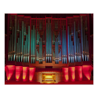 Christchurch Town Hall organ poster untitled