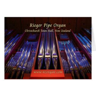Christchurch Town Hall organ - purple Card