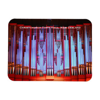 Christchurch Town Hall organ Rectangular Photo Magnet