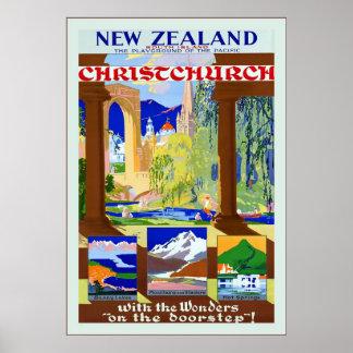 Christchurch ~ Vintage Travel Poster