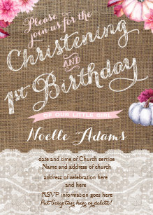 save 60 on christening 1st birthday invitations limited time only