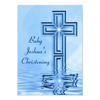 Christening Baby Blue Invitations
