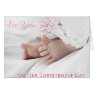 Christening/Baptism Cards for Baby Girl