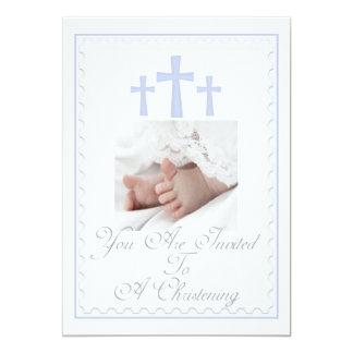 "Christening/Baptism Son Invitation 5"" X 7"" Invitation Card"