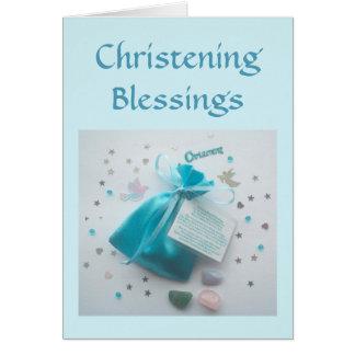 Christening Blessings Card Godson's Christening