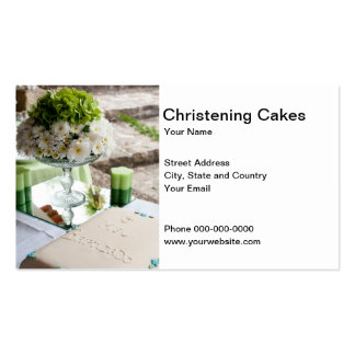 Christening Cakes Business Card