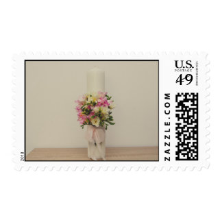 Christening candle stamps