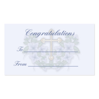 Christening,Communion gift tag2 Business Card