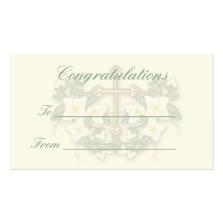 Christening,Communion gift tag3 Business Card