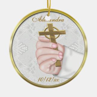 Christening Cross Ornament