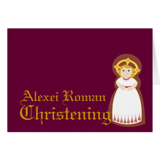 Christening-Customize Card