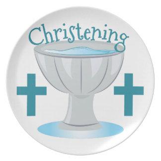 Christening Dinner Plate