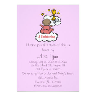 christening.girl.ai, Please join this special d... 5x7 Paper Invitation Card