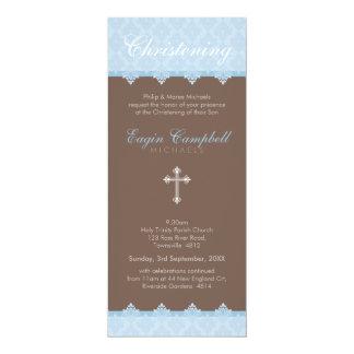 "CHRISTENING INVITES :: oh so beautiful 2P 4"" X 9.25"" Invitation Card"
