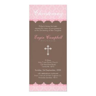 "CHRISTENING INVITES :: oh so beautiful 5P 4"" X 9.25"" Invitation Card"