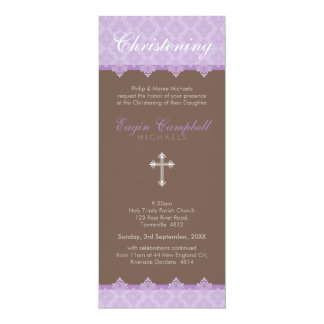 "CHRISTENING INVITES :: oh so beautiful 7P 4"" X 9.25"" Invitation Card"