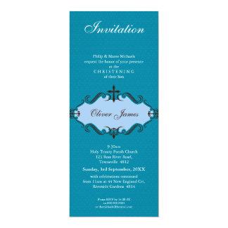 "CHRISTENING INVITES :: viva 10P 4"" X 9.25"" Invitation Card"